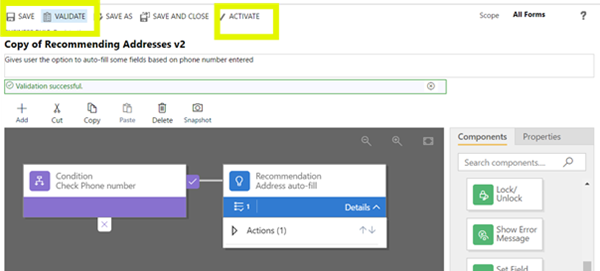 clip image016 thumb How to Use Recommendations in Dynamics 365 Business Rules