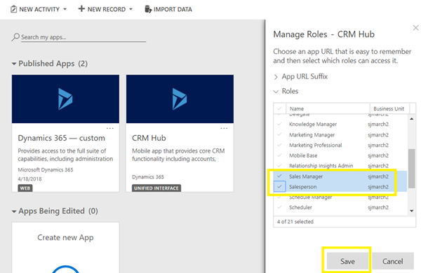 image thumb 3 Can't Find Any Apps Error on Dynamics 365 v9 Mobile Client