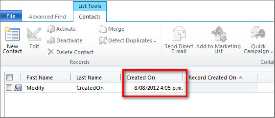 How to Modify the Created On Value of Dynamics CRM 2011 Part 1