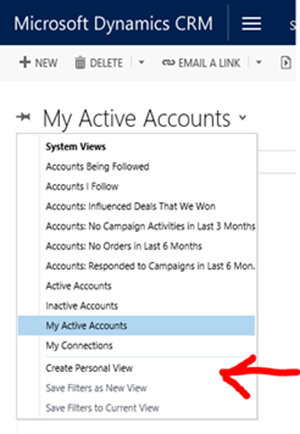 how to create and share personal views in microsoft dynamics 365