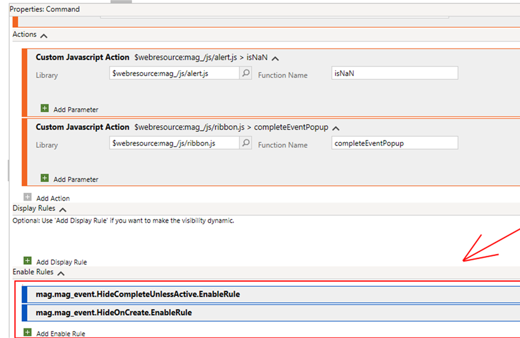 How to Use Enable Rules in Dynamics 365 with the Ribbon Workbench