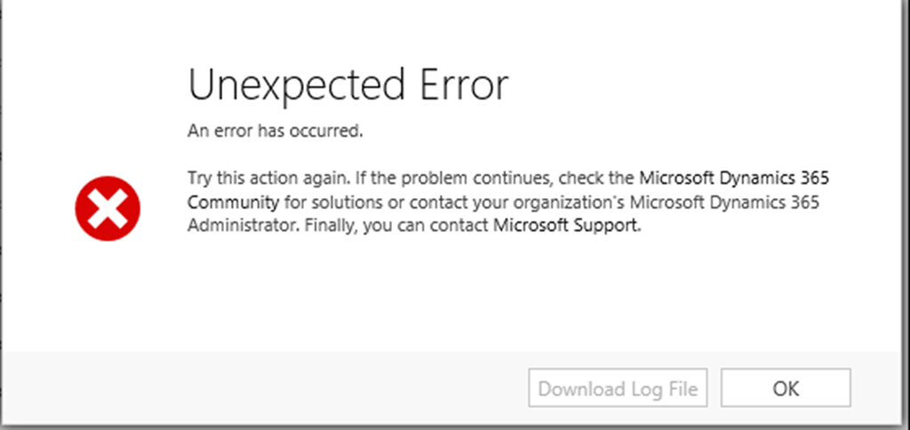 Unexpected Error on Exporting a Dynamics CRM Solution