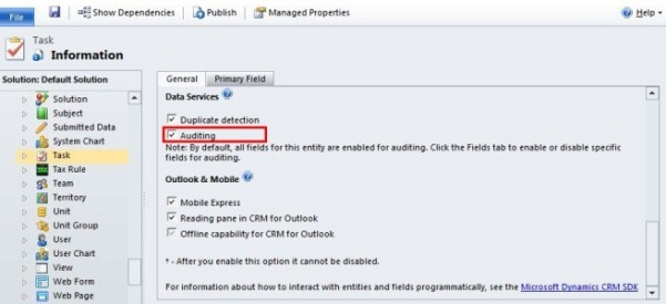 Enabling Auditing in Dynamics CRM 2011 | Magnetism Solutions