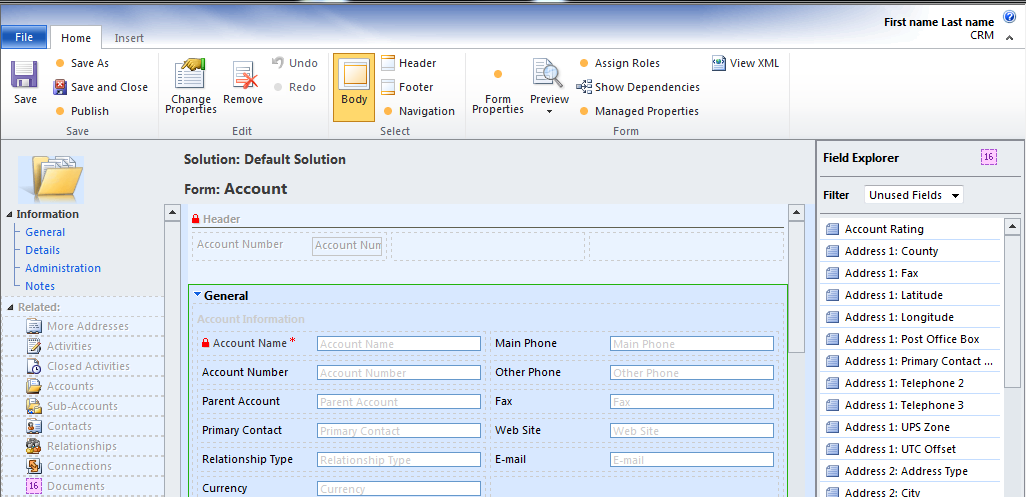 Form Customization in Dynamics CRM 2011 – Part 1 | Magnetism