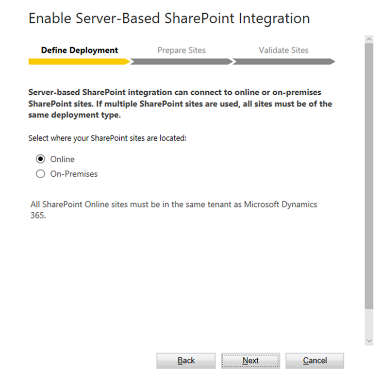 Setting up Server-Based SharePoint Integration for Dynamics