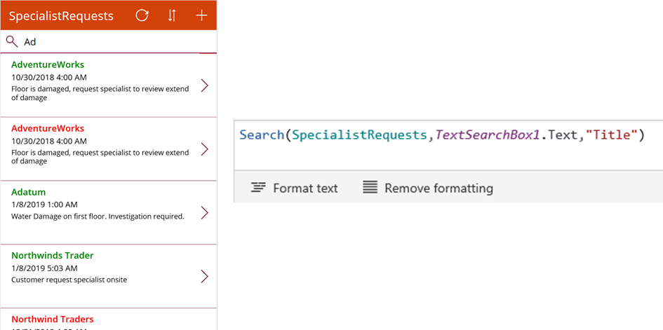 Filtering data in PowerApps using Search and Tags | Magnetism