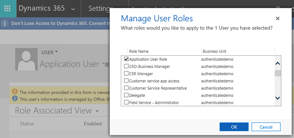 Dynamics 365 Online Authenticate with Client Credentials