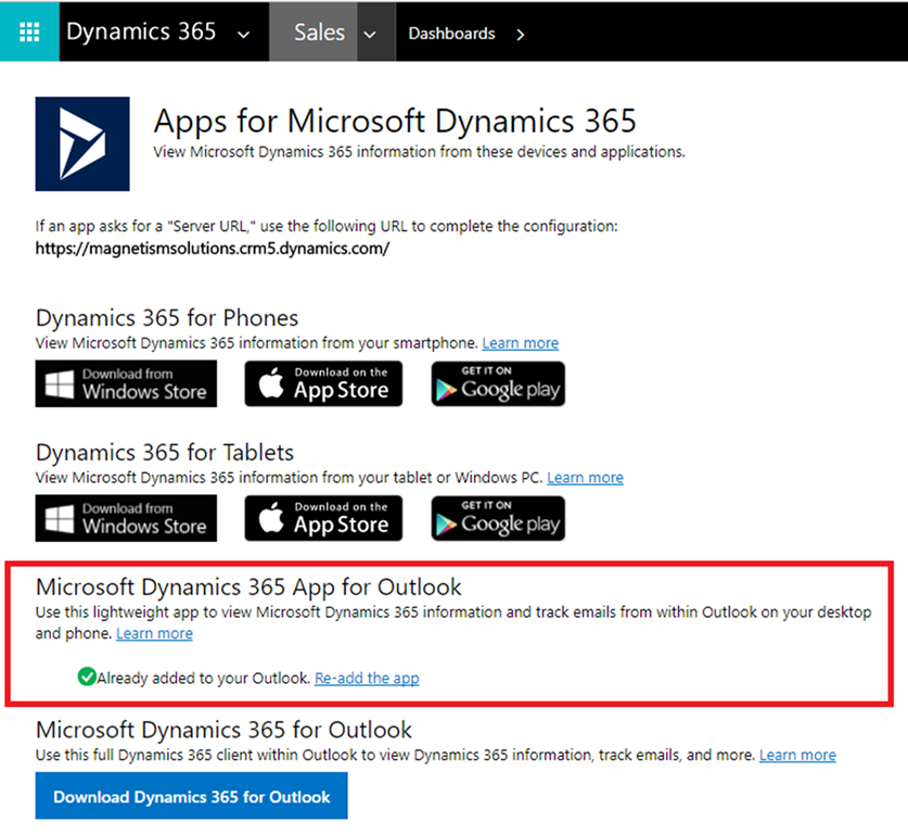Introduction to Dynamics 365 App for Outlook | Magnetism Solutions