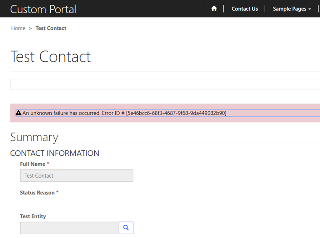 Setting up Error Logging for Dynamics 365 Portals
