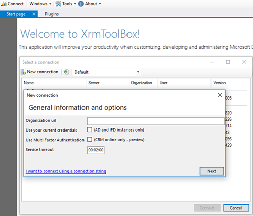 Xrmtoolbox Connection String Dynamics 365