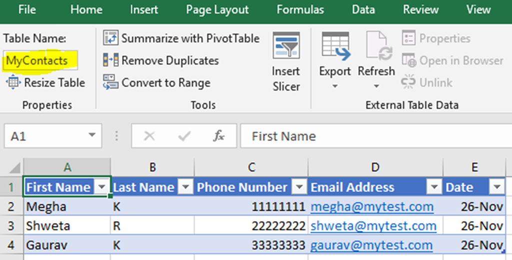 Create PowerApps using Data from Excel | Magnetism Solutions