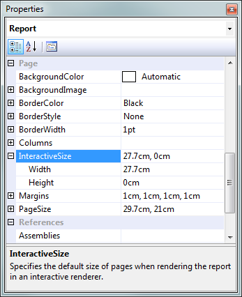 SSRS: Using Page Size and Interactive Size to Manage Printing