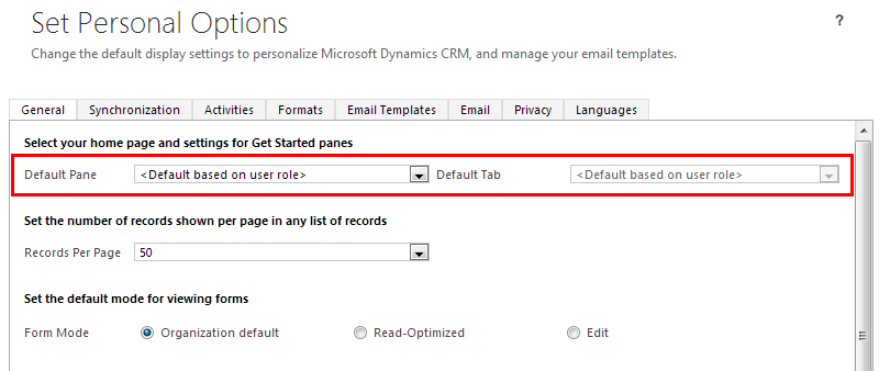 Dynamics CRM 2013 Default Sitemap Pane Based on User Role