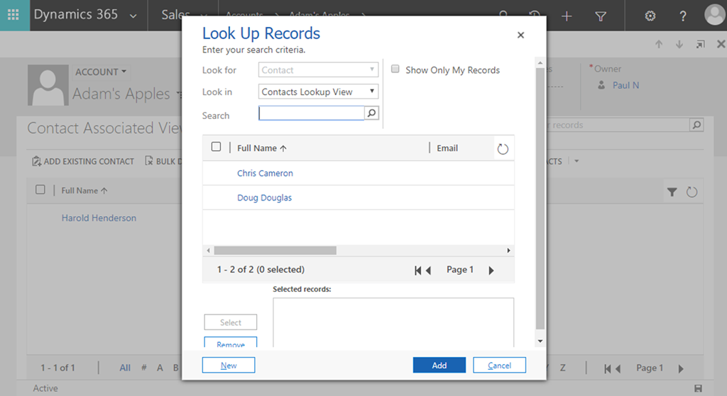 Filter N:N Add Existing Lookup Dynamics 365 V9 Supported