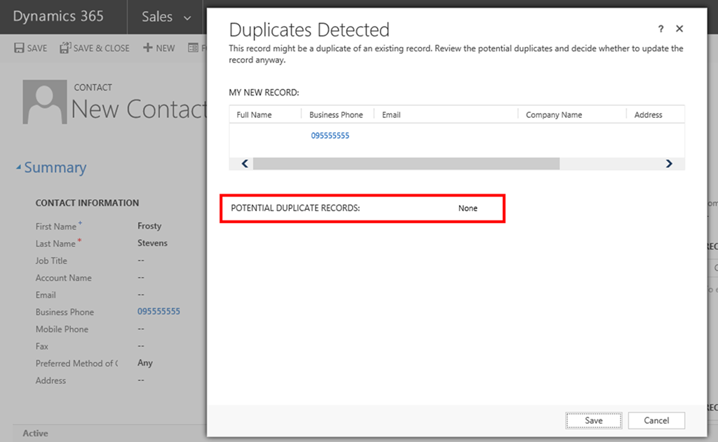 How to Fix Duplicate Detection Dialog Showing No Records in