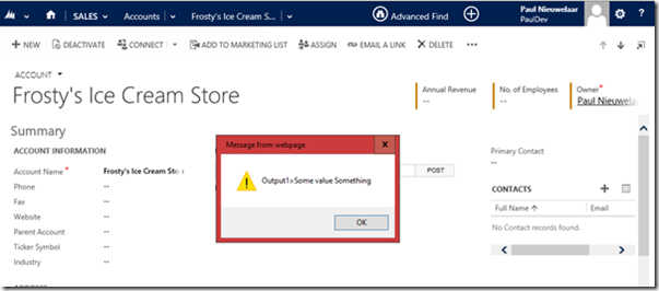 Call Action in CRM 2015 Easily from JavaScript Library | Magnetism