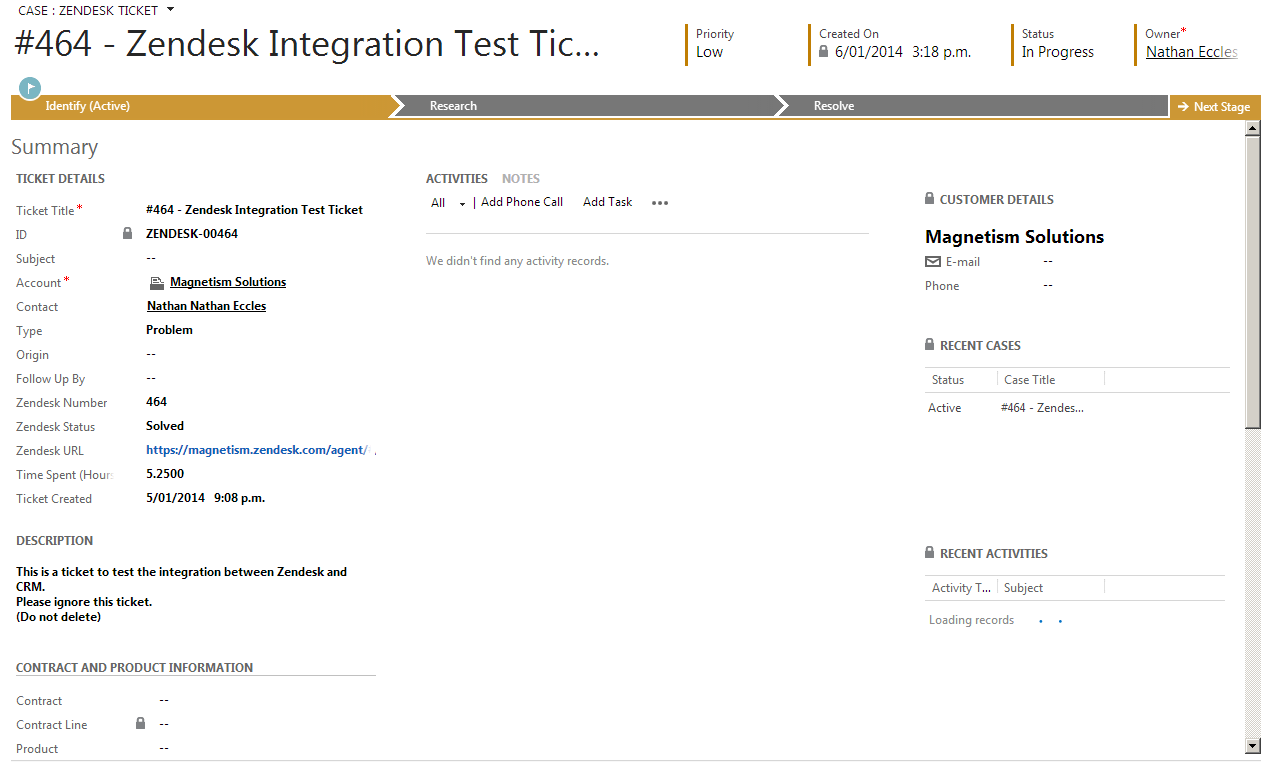 Synchronise Your Zendesk Tickets with Dynamics CRM 2013