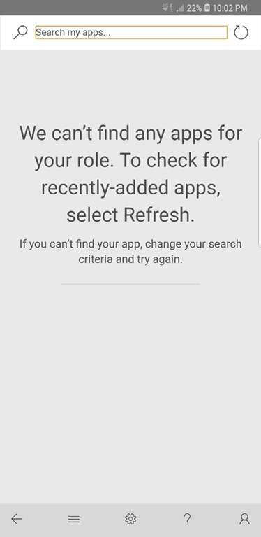 Can't Find Any Apps Error on Dynamics 365 v9 Mobile Client