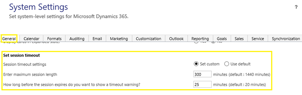 How to Change User Session Timeout Settings in Dynamics 365